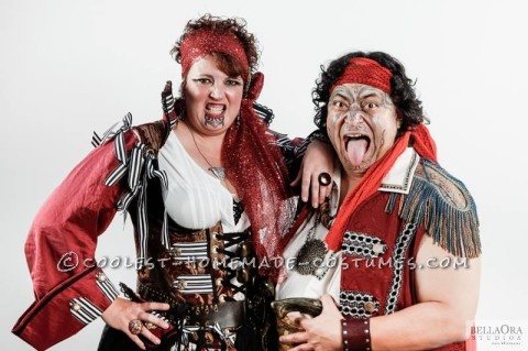 Awesome and Original Maori Pirates Couple Costume