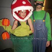 Flower w/ store bought Luigi costume