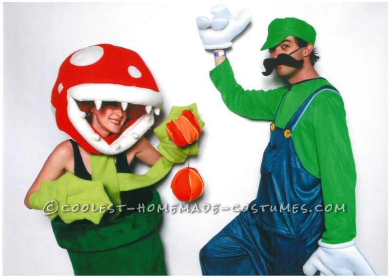 Awesome Woman's Super Mario Piranha Flower Costume