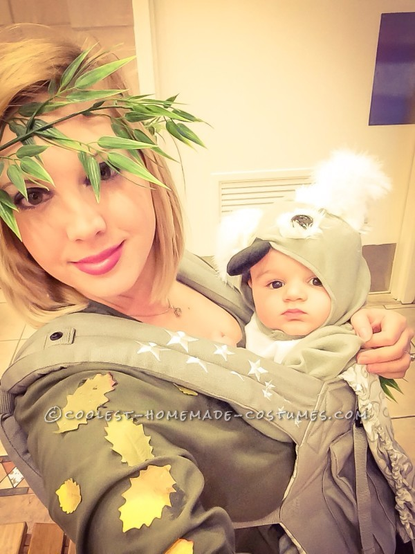 Cute Mom and Baby Costume: Koala in Eucalyptus Tree!