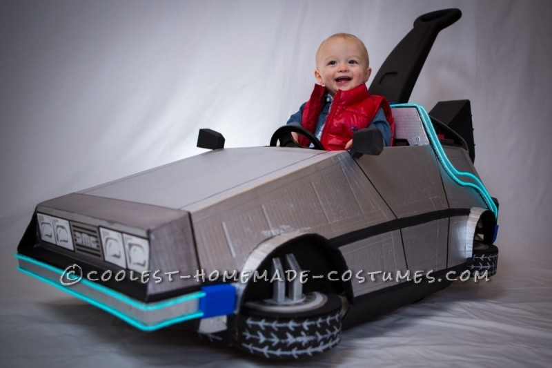 Marty McFly and his Delorean Push Car Toddler Costume