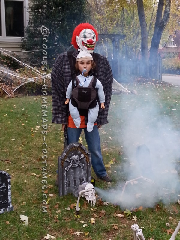 Optical Illusion Baby Snatcher Costume for a Boy - 2
