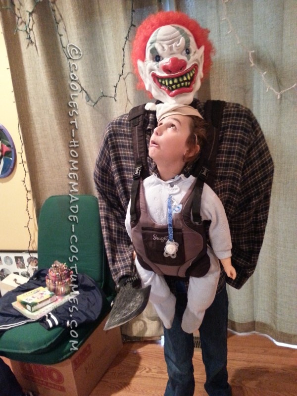 Optical Illusion Baby Snatcher Costume for a Boy - 1