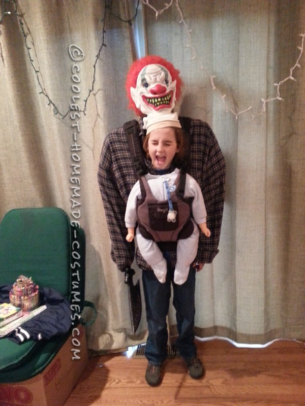 Optical Illusion Baby Snatcher Costume for a Boy - 3