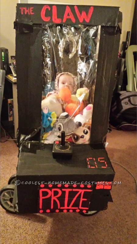 Homemade Baby Stuck in an Arcade Game Stroller Costume - 1
