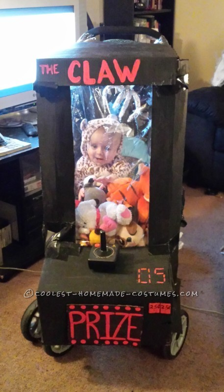 Homemade Baby Stuck in an Arcade Game Stroller Costume