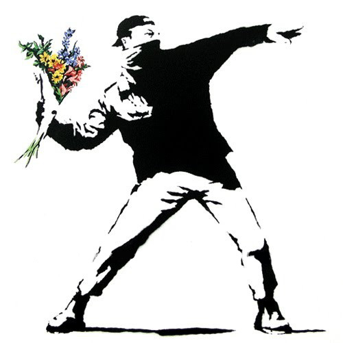 The Most Original Costume - Banksy's Flower Thrower