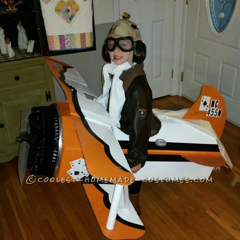 Barnstormer Nick and His Biplane Ace Costume