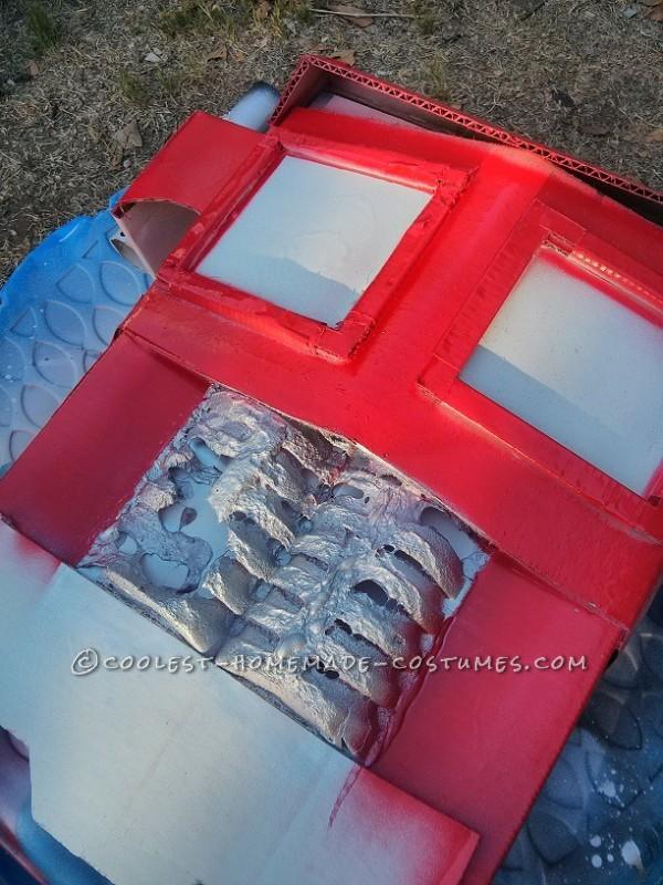 ooops  I guess paint eats styrofoam