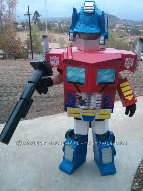 Battle Scarred Optimus Prime Costume for a Boy