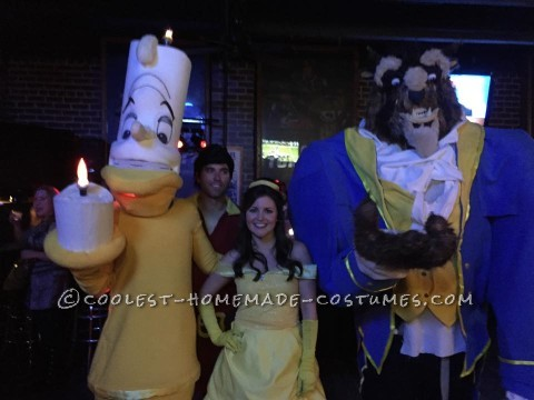 Amazing Homemade Beauty and the Beast Group Costume