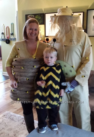 cute bee themed family costume