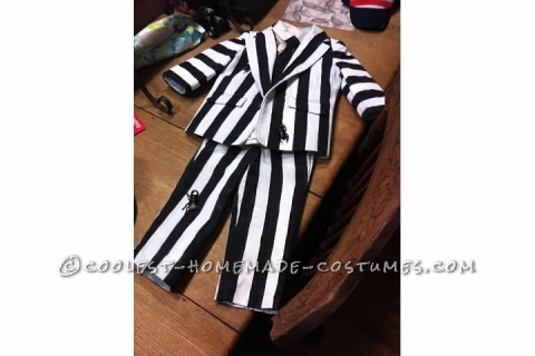 Homemade Two-Year-Old Toddler Beetlejuice Costume