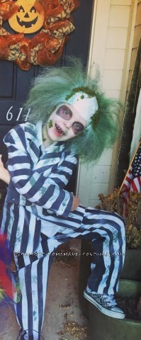 Cool Beetlejuice Costume for a Boy