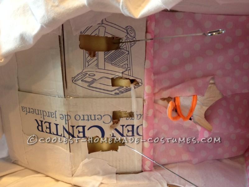 Best Homemade Baby Bassinet Illusion Costume!