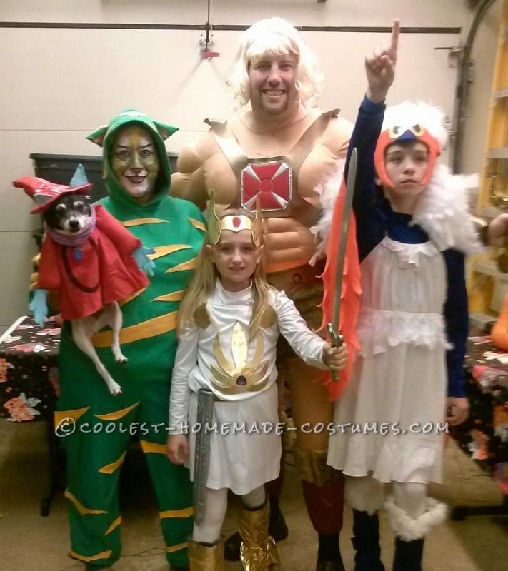 Hem-man, Cringer, She-ra, Sorceress of Castle Greyskull, and Orko