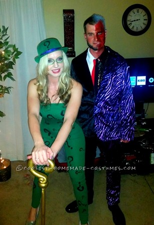 Best Homemade Riddler and Two Face Couples Costume!