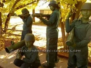 Homemade Toy Army Men Group Costume