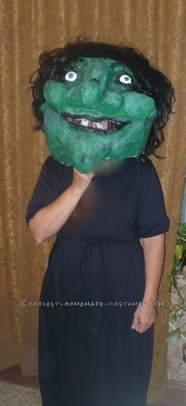Big Warty Witch Head for Halloween
