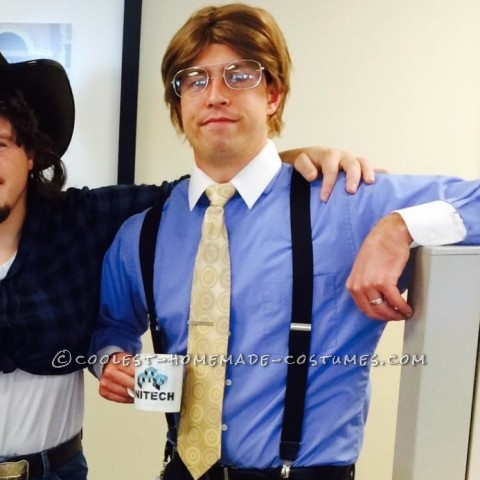 Easy Bill Lumbergh Costume - Giving Out TPS Reports as Treats