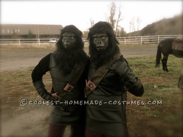 Coolest Ever DIY Planet of the Apes Couple Costume - 2