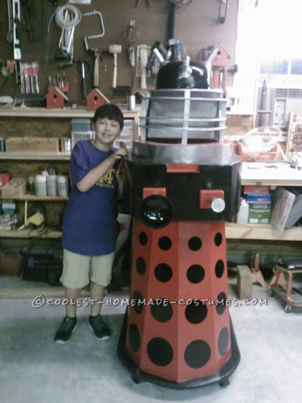 Homemade Dalek from Doctor Who Halloween Costume - 4