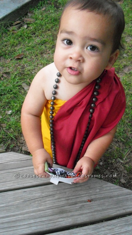 Cutest Buddhist Monk Toddler Costume - 1