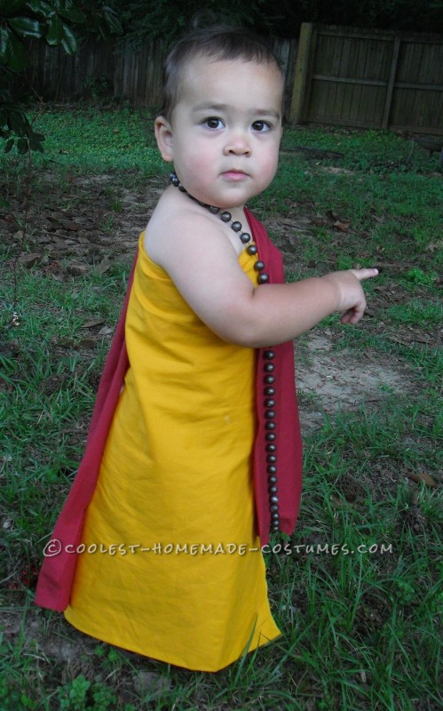 Cutest Buddhist Monk Toddler Costume - 2