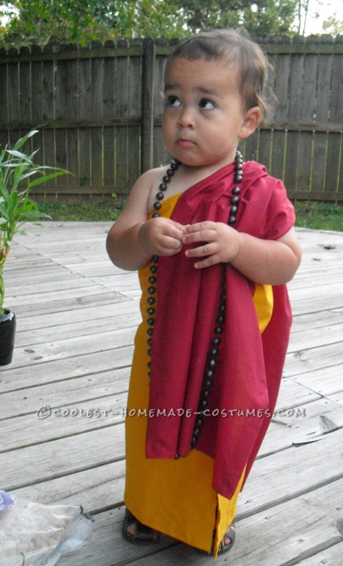 Cutest Buddhist Monk Toddler Costume - 3