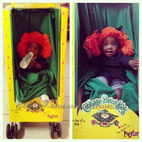Cabbage Patch Doll Stroller Costume for a 1 Year Old