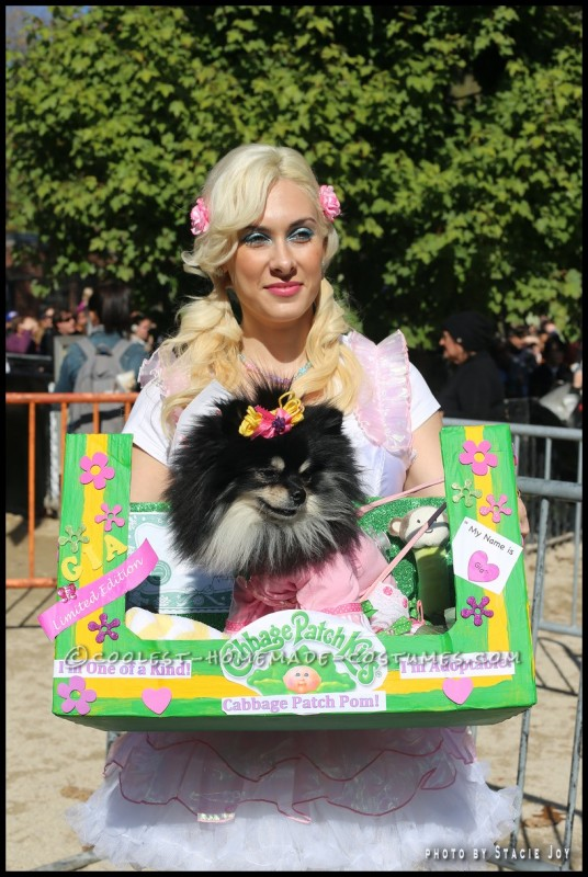 Cabbage Patch Dog Costume for a Cute Pomeranian - 1