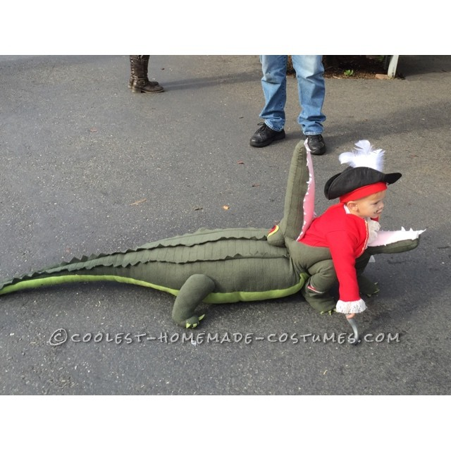 Awesome Costume Idea: Captain Hook Getting Eaten by Tick Tock Crocodile!