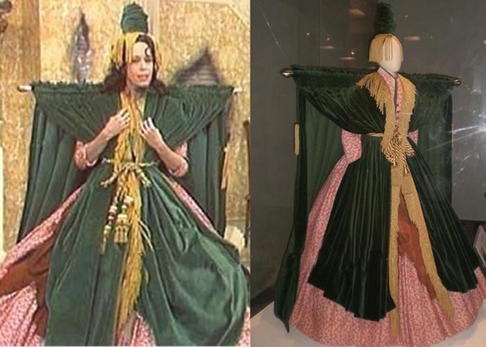 Carol Burnett gone with the wind curtain dress