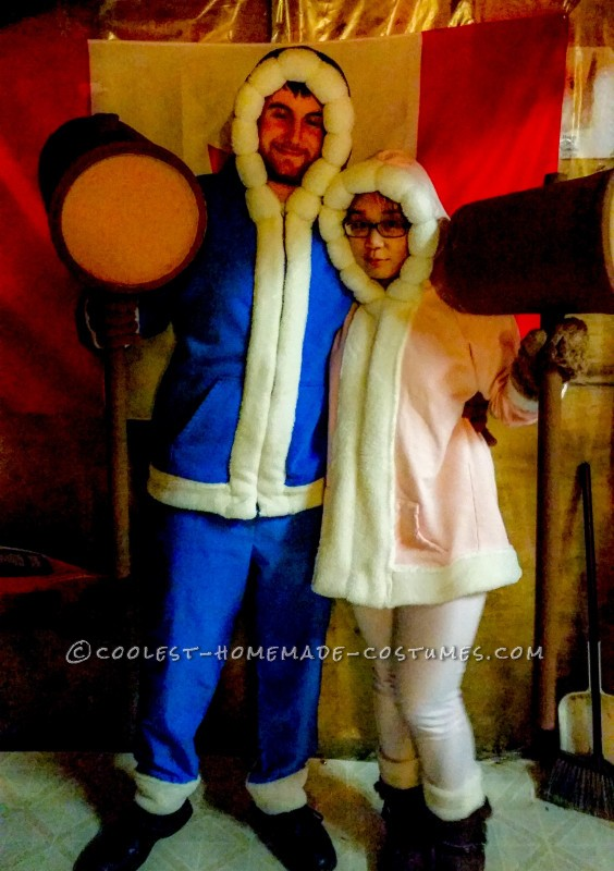 Chillingly Accurate Ice-Climbers Costumes from Super Smash Bros.