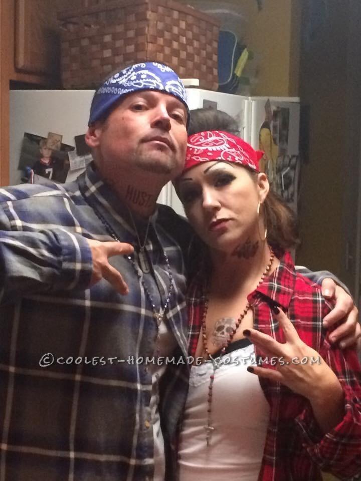 Cool Chola And Cholo Couple Costume