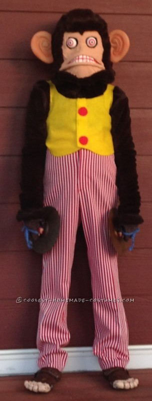 Coolest Homemade Clapping Monkey Costume - 4