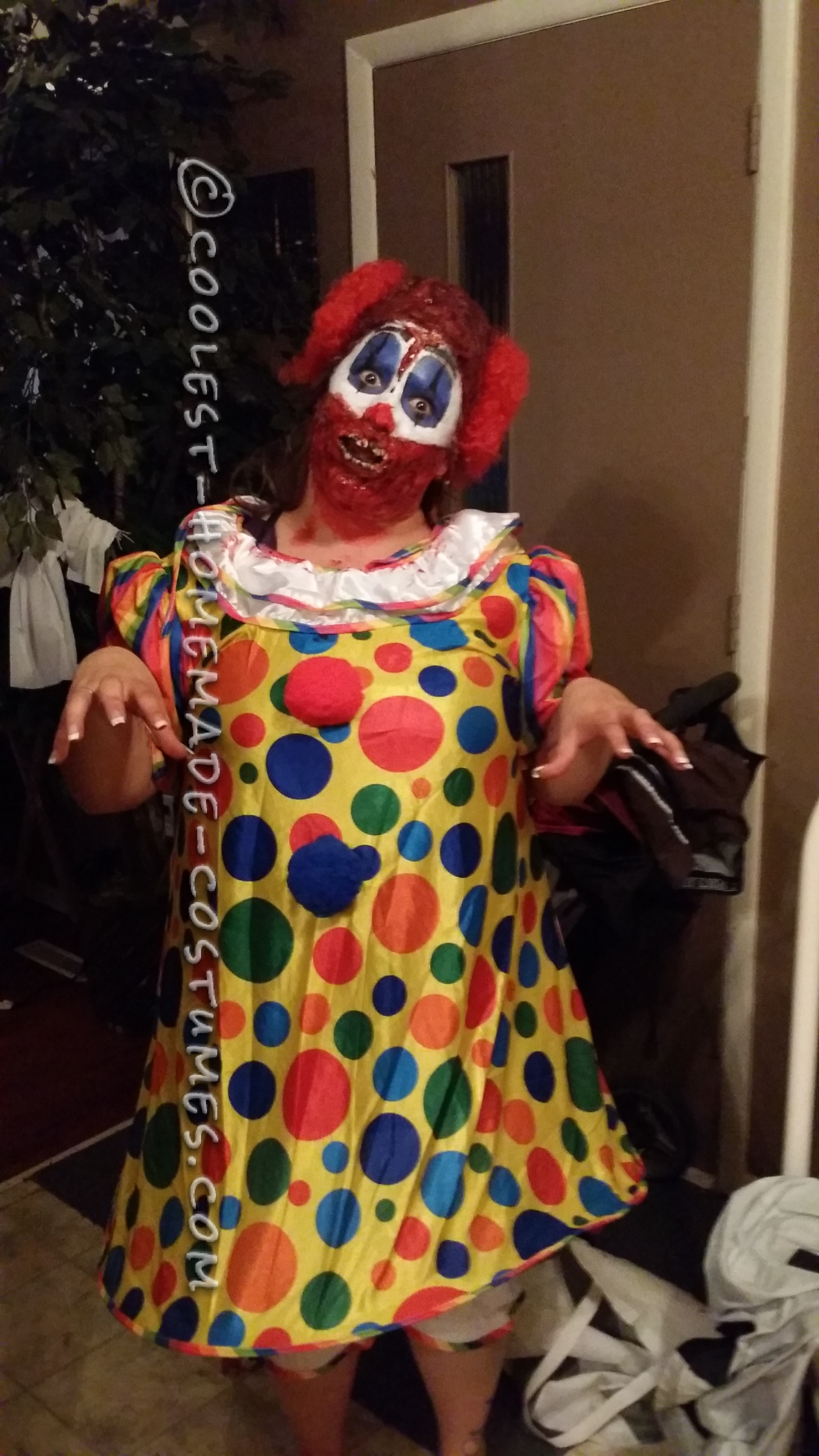 Creepy Homemade Clown Costume