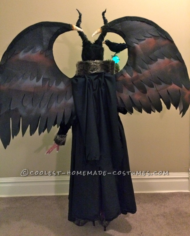 Full back view of the costume