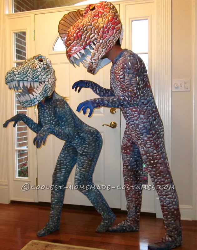 Super Cool Homemade Dinosaur Couple Costume - 2