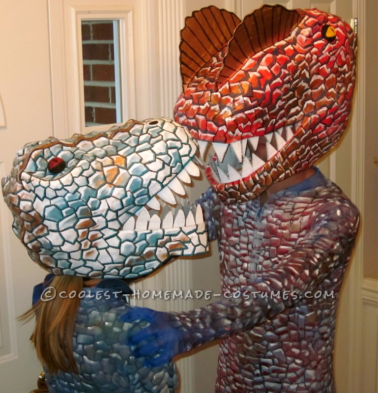 Super Cool Homemade Dinosaur Couple Costume - 1