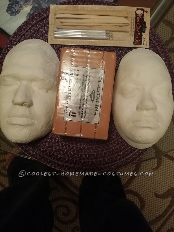 Finished face molds with supplies