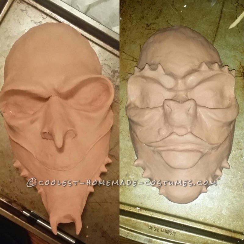 Sculpted faces for mask mold