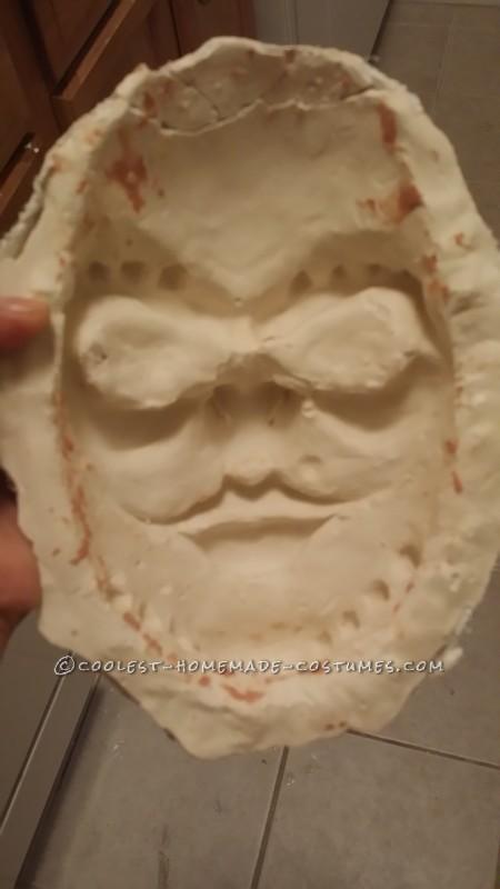 Plaster mold for the masks