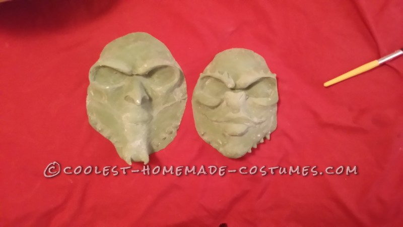 Latex Rubber mask out of mold