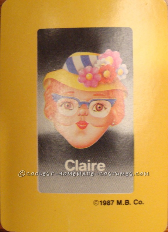 Coolest Guess Who Costume - Claire (Easy & Comfortable)