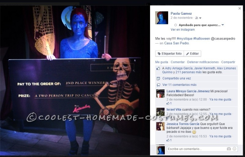 Coolest Homemade Mystique Costume