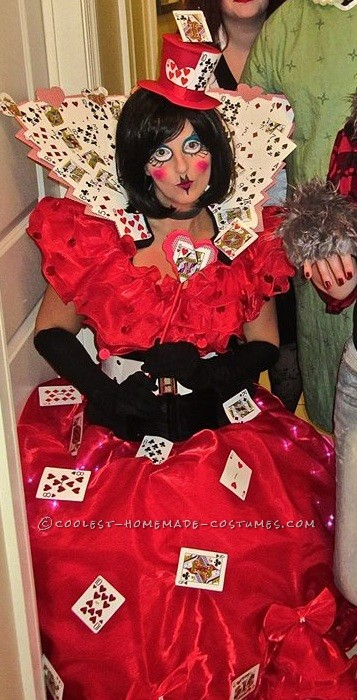 Coolest Queen of Hearts Costume Made in 2 Days!