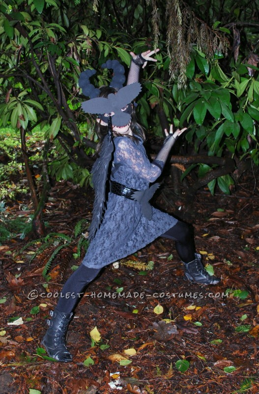 Coolest Homemade Raven Costume for a Girl - 1