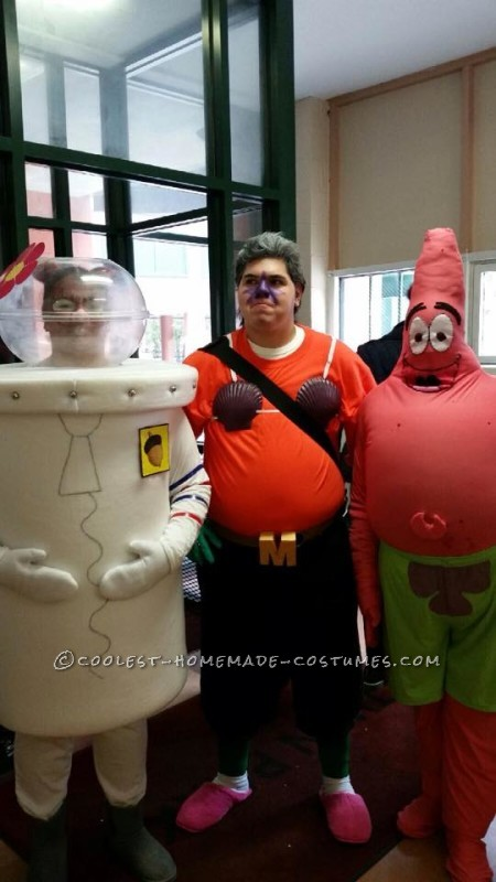 Coolest Sandy Cheeks, Mermaid Man and Patrick Star Group Costume