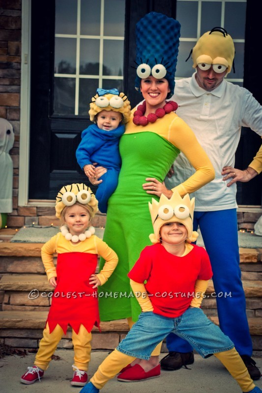 Coolest Homemade Simpsons Family Costume - 2